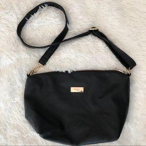 BCBG Black Faux Leather Handbag